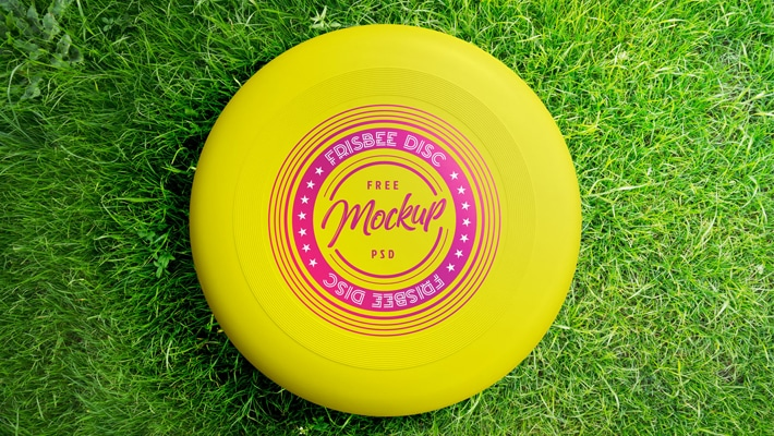 Free Frisbee Disc Mockup PSD