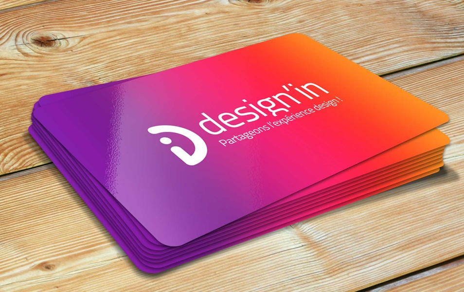 Free Glossy Business Card Mockup