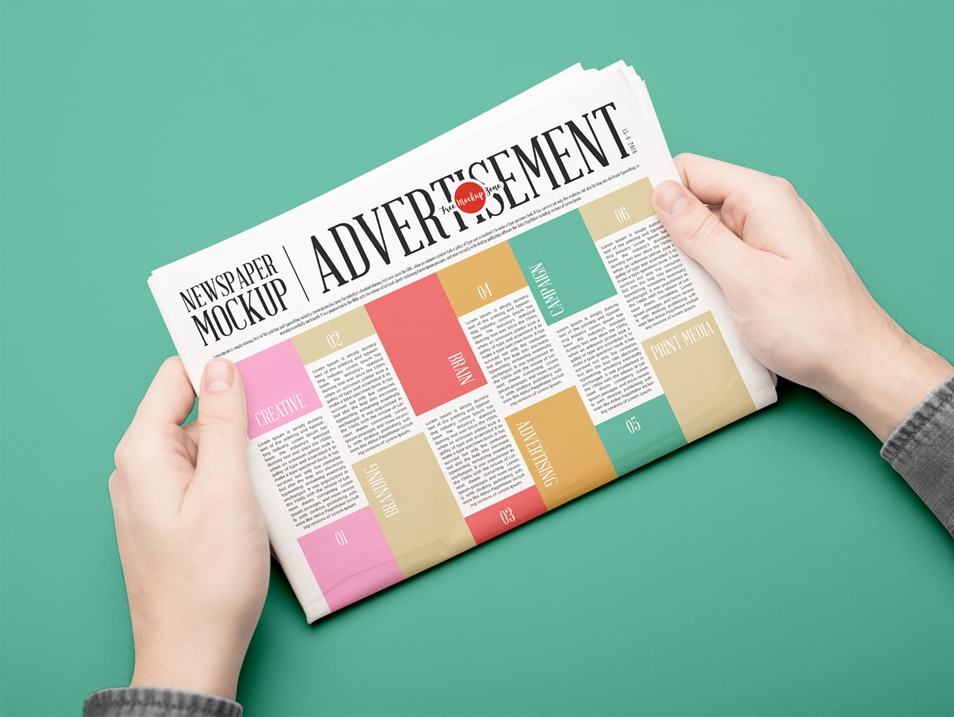 Free Newspaper Mockup PSD