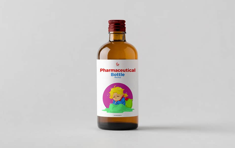 Free Pharmaceutical Bottle Mockup PSD