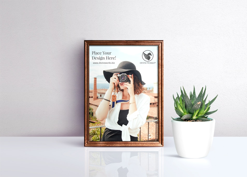 Free Picture Frame PSD Mockup