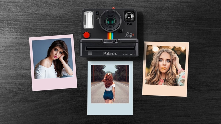 Free Polaroid Photo Collage Mockup PSD