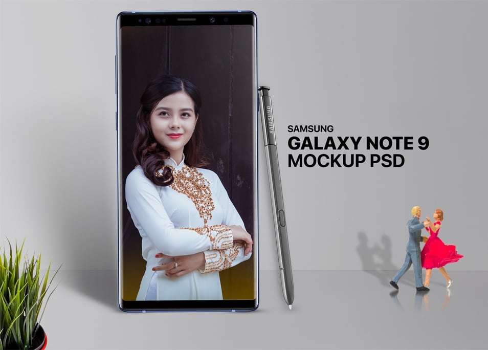 Free Samsung Note 9 Mockup Template