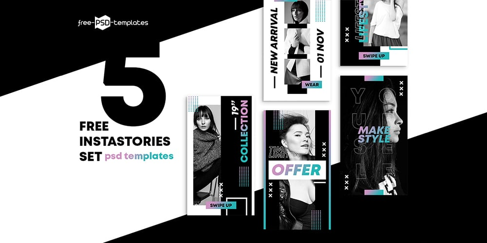 Free Shop Stories Template PSD