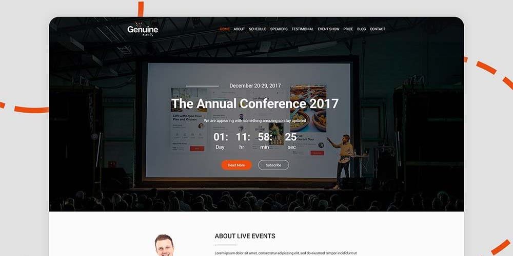 Geinuine Conference and Event Templates