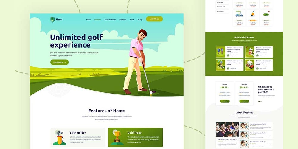 HAMZ Template for Golf Sports