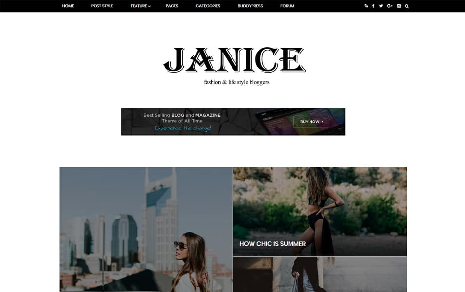 Janice Fashion/Lifestyle & Responsive Blogger Template