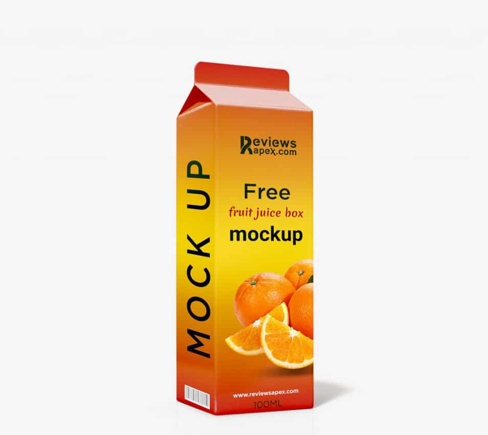 Juice Pack Mockup Free Download PSD