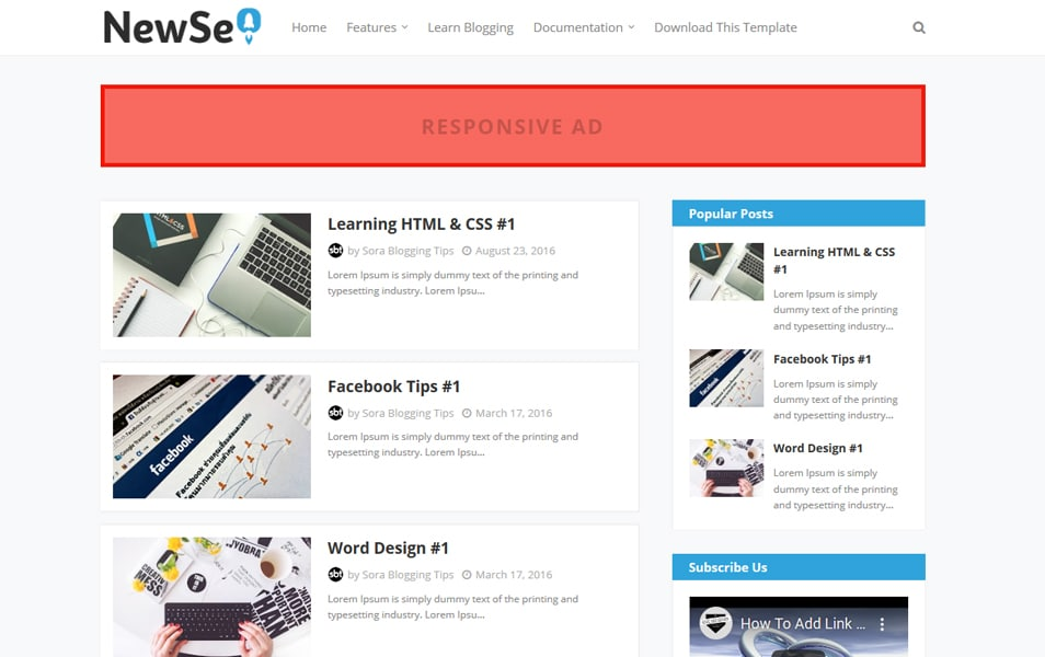 New Seo Responsive Blogger Template