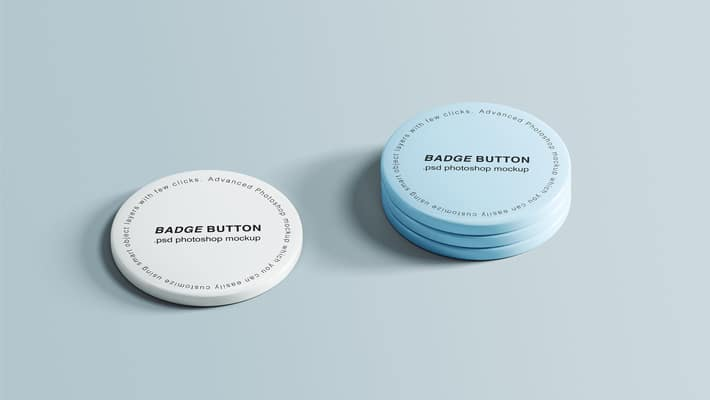 Pin Buttons Mockup