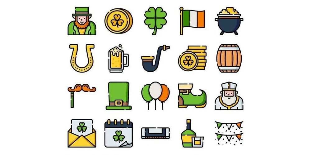 ST Patricks Day Icons