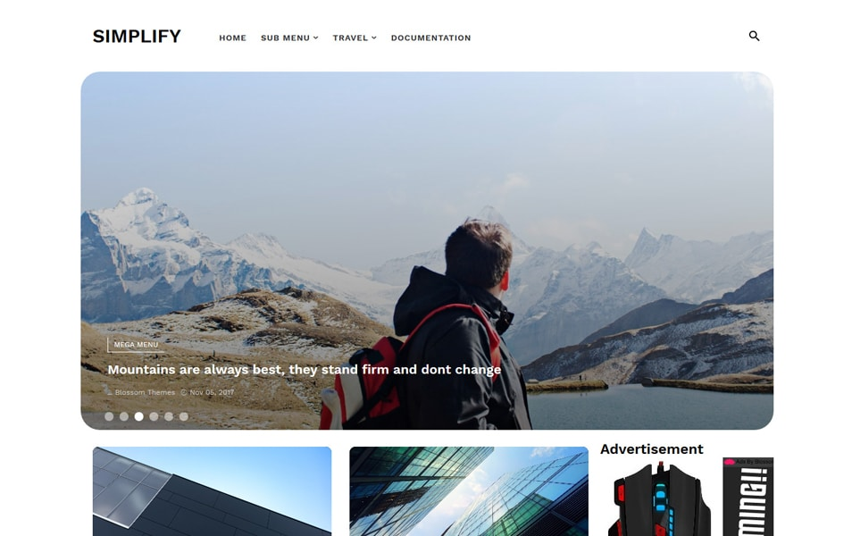 Simplify Travel and Lifestyle Magazine Theme