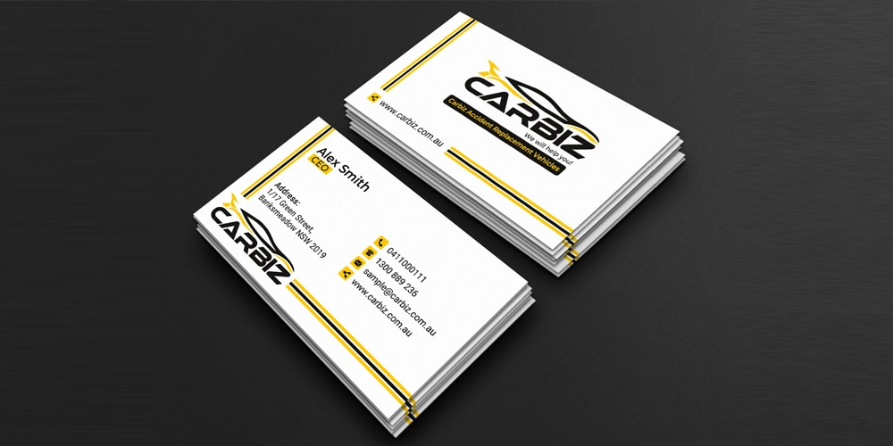 Standard Business Card Template PSD