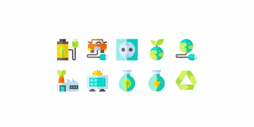 Sustainable Energy Icons