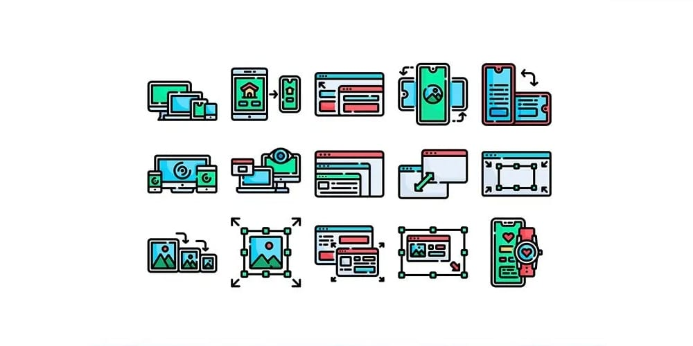responsive webdesign icons
