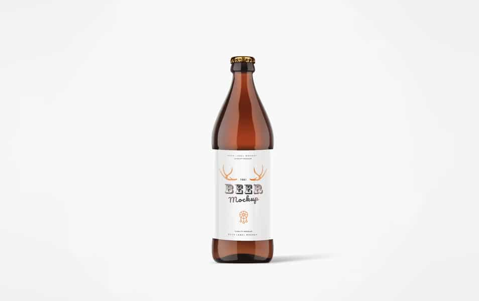 0.5l Beer Bottle PSD Mock-Up