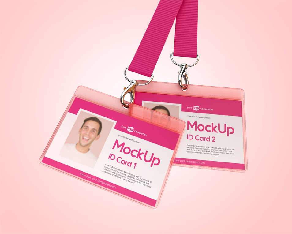3 Free ID Card Mock-ups in PSD
