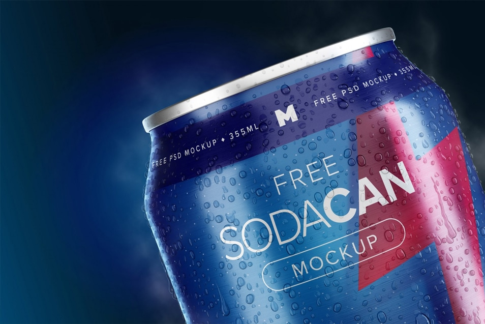 355ml Soda Can Mockup