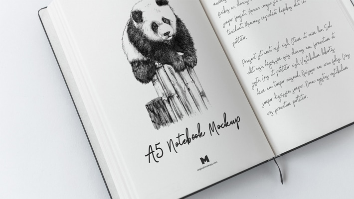 A5 Hardcover Notebook Mockup
