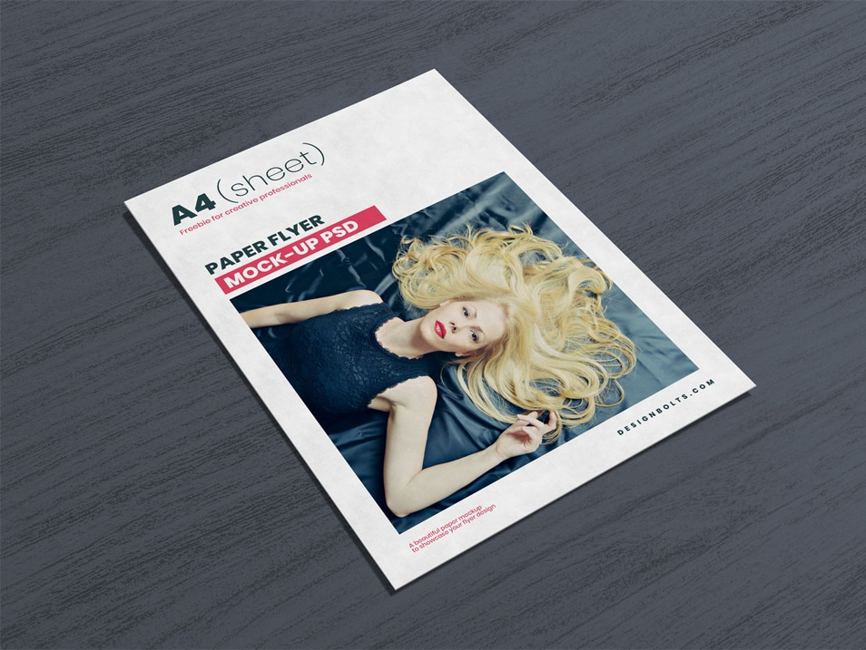 Free A4 / Letter (US) Flyer Mockup PSD
