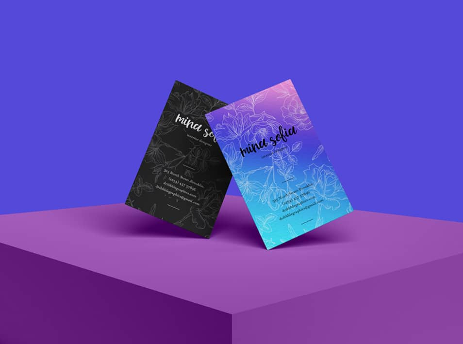 Free Brand PSD Stylish Business Card Mockup