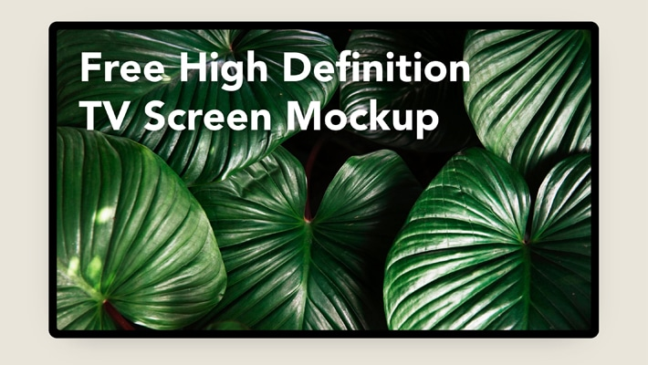 Free High Definition TV Screen Mockup