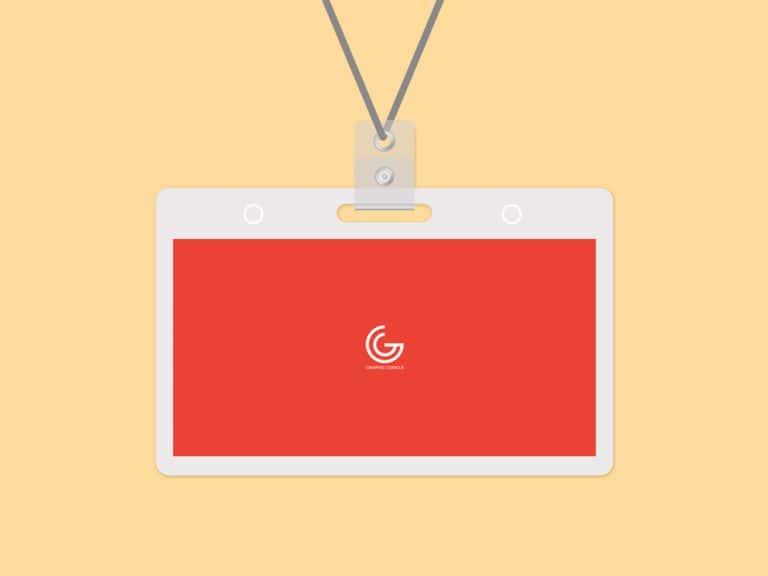 Free PSD Name Tag Badge Mockup Template