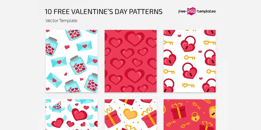 Free Valentines Day Vector Patterns