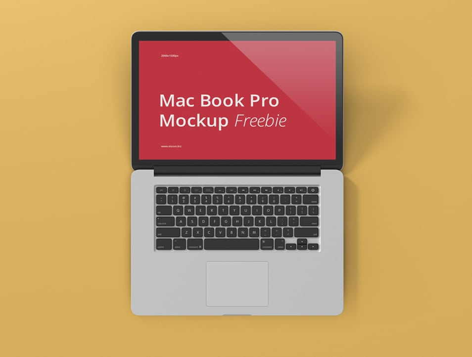 MacBook Pro Laptop Mockup