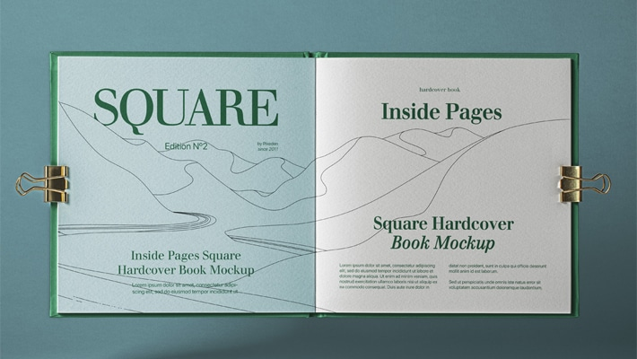 Open Square PSD Catalog Mockup