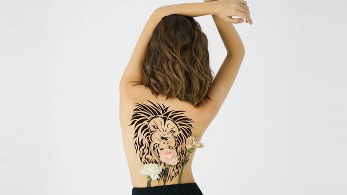 Women's Back Tattoo Mockup