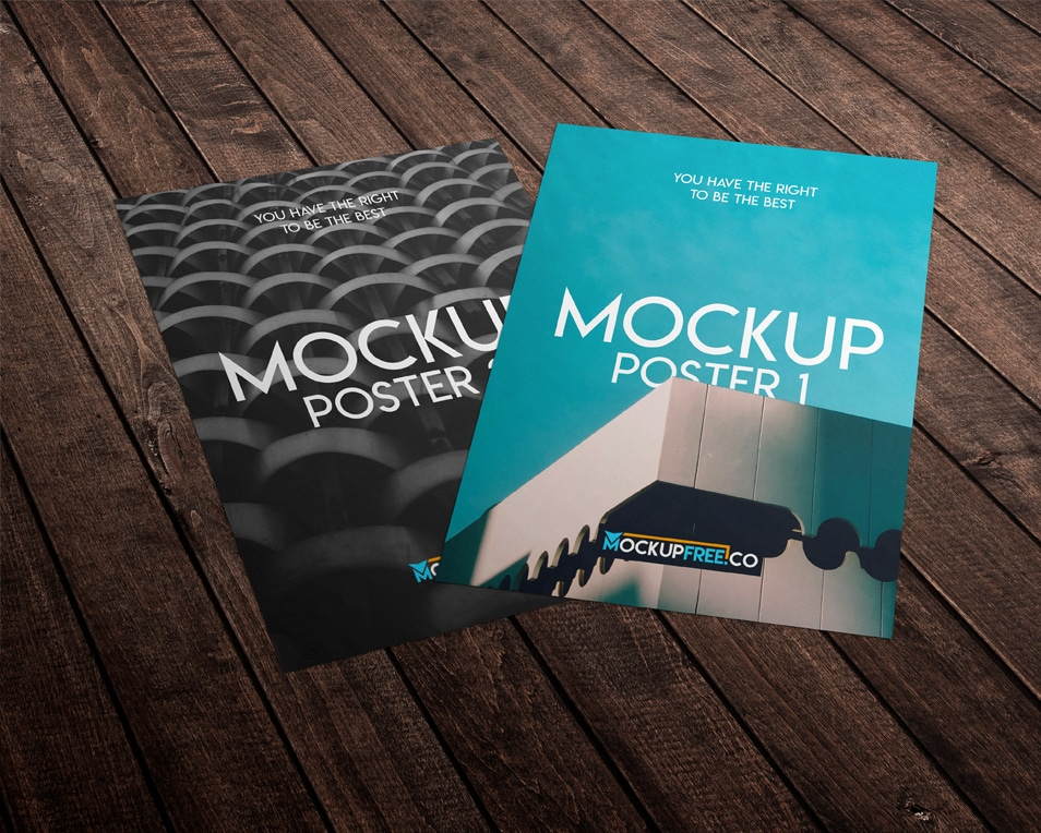 2 Free PSD Poster Mockups