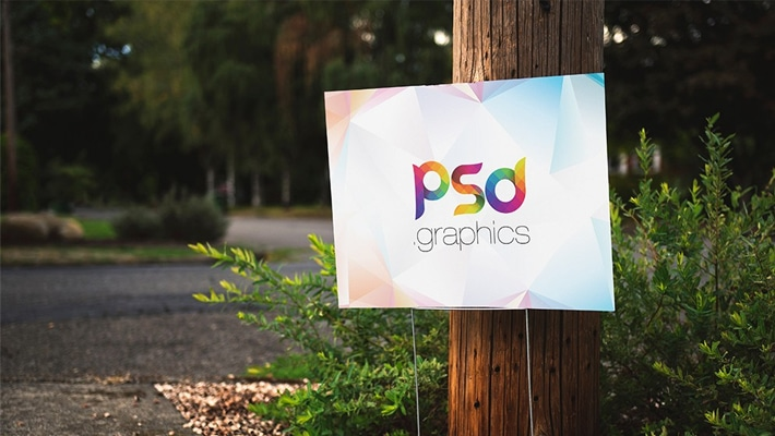 Advertising Placard Mockup PSD