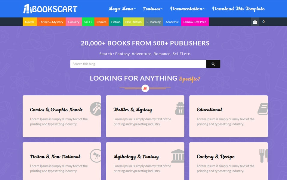 Books Cart Responsive Blogger Template