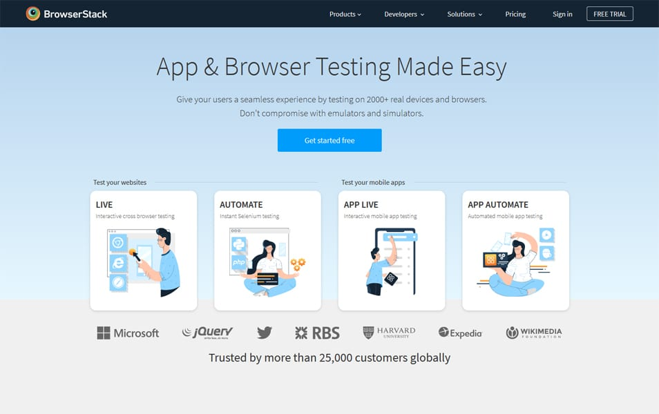 BrowserStack - Cross-Browser Testing Tools