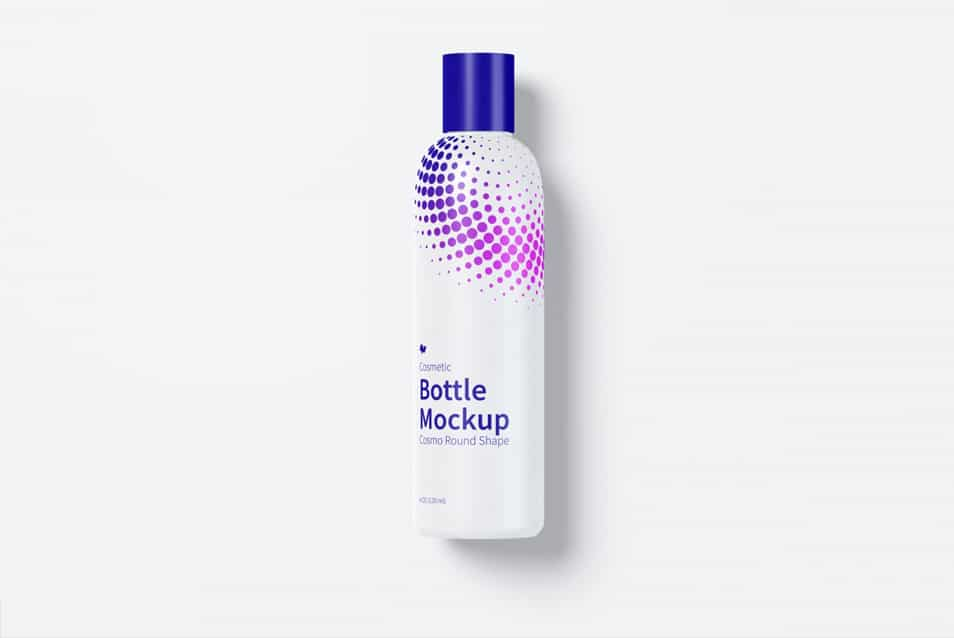 4 oz / 120 ml Cosmo Round Shape Cosmetic Bottle Mockup