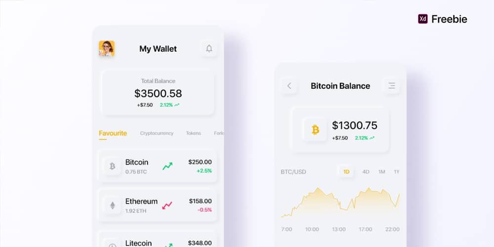 Cryptocurrency Wallet App Design