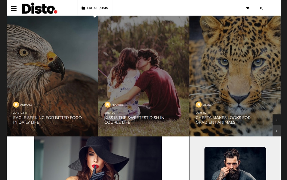 Disto Responsive Blogger Template