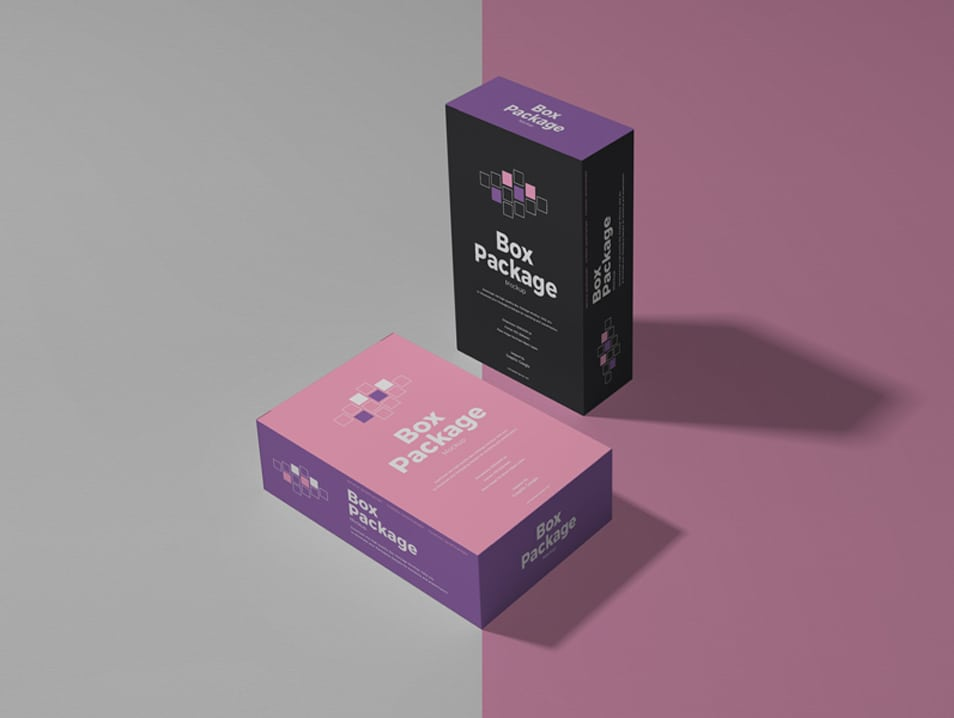 Free Box Package Mockup