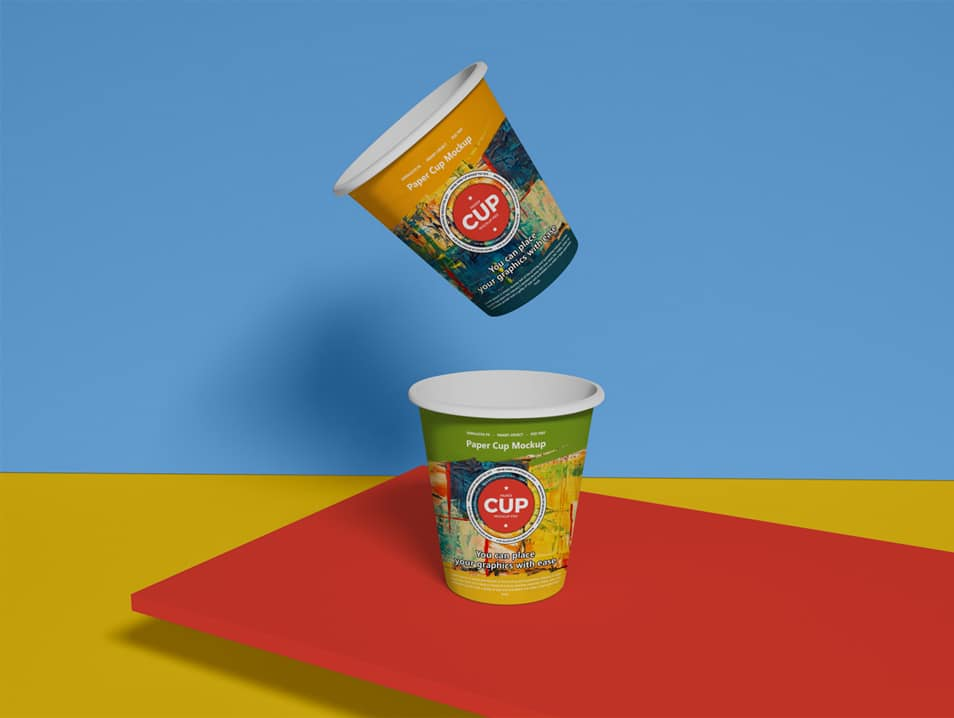 Free Brand Paper Cup Mockup PSD