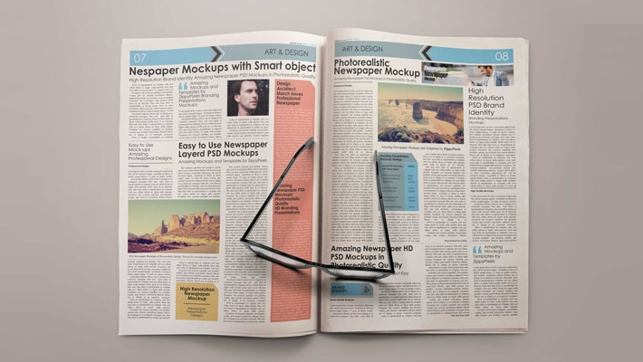 Free Mock-up Newspaper Plain