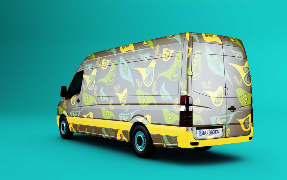 Free Mock-up Van Wrap Designs