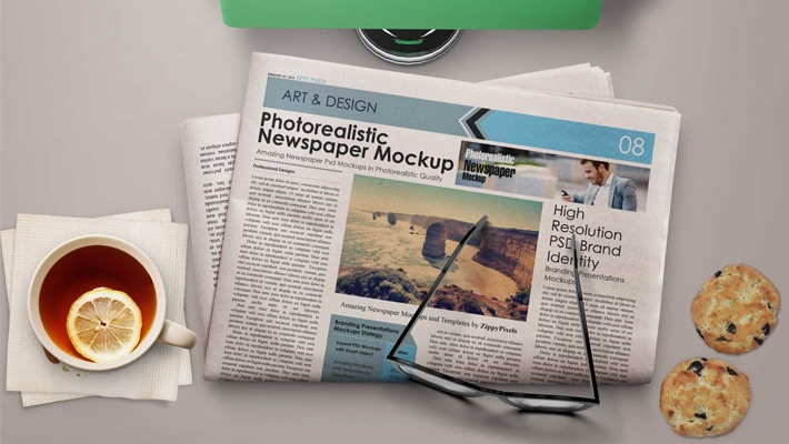 Free Morning NewsPaper Mockup