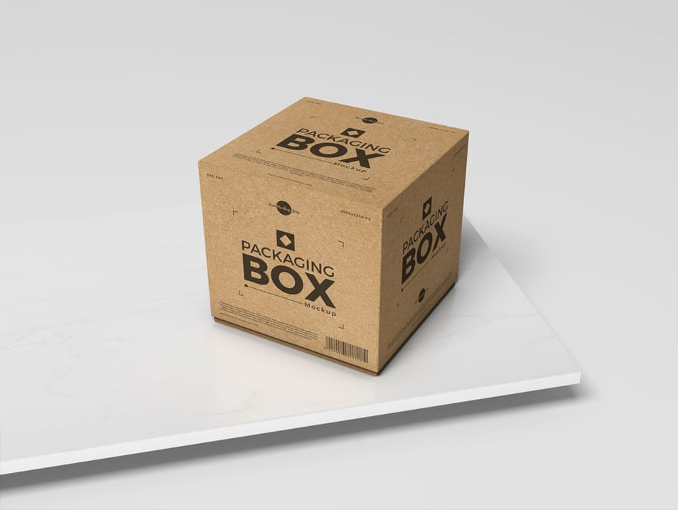 Free PSD Packaging Box Mockup