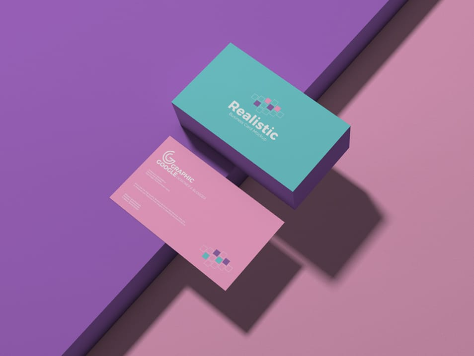 Free Realistic Business Card Mockup