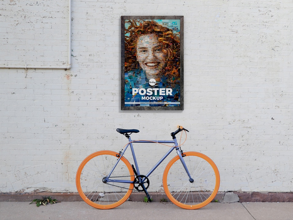 Free Street Wall Poster Mockup Design