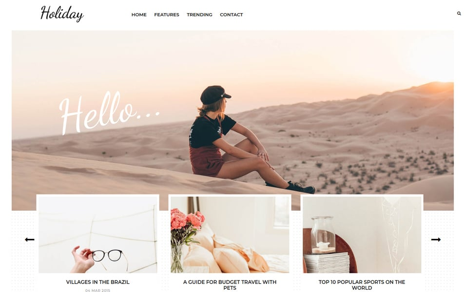 Holiday Travel & Lifestyle/Fashion Responsive Blogger Template