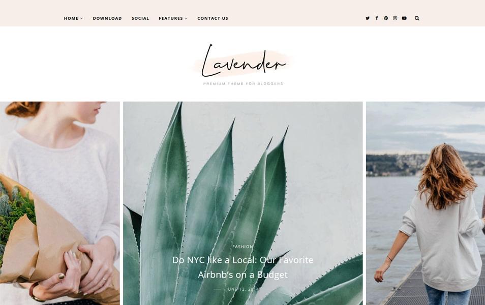 Lavender Personal Blogger Template