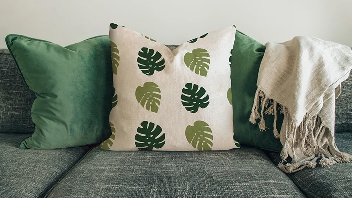 Pillow On The Sofa Mockup