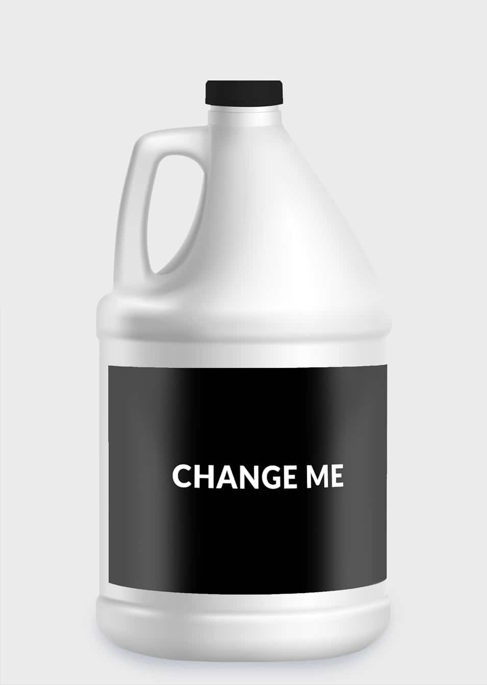 Plastic Chemical 5L Bottle PSD Mockup